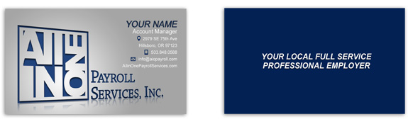 All in One Payroll Services Business Card